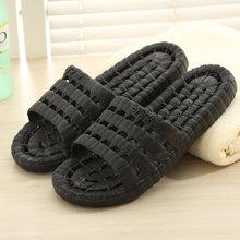 植木直家居家用浴室冲凉洗澡漏水防滑软底男女拖鞋1603028