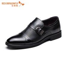 红蜻蜓男凉鞋 2016夏季新款镂空金属扣套脚透气商务休闲皮鞋 6974