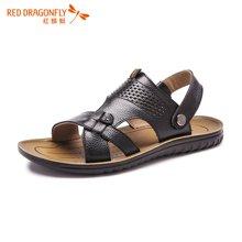 红蜻蜓沙滩男凉鞋 2016夏季新款休闲打孔透气沙滩鞋子 6030