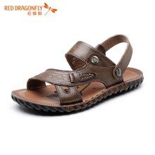 红蜻蜓男士沙滩凉鞋2016夏季新款清凉时尚休闲男鞋 6019