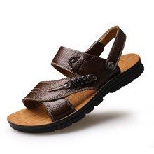 植木直新款男士沙滩鞋皮凉鞋160732