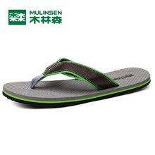 木林森夏季新款男士拼色人字拖凉鞋沙滩鞋透气舒适休闲男鞋 270019