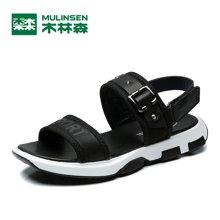 木林森夏季新品男士简约魔术贴系带凉鞋时尚潮流休闲男鞋 270002