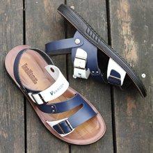 植木直新款男士沙滩鞋皮凉鞋160734