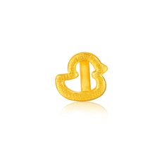 金世通3D硬金 镂空小鸭子转运珠 2R50033 免工费 赠红绳 克重约0.49~0.52克