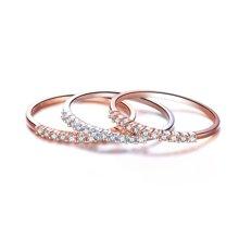 佐卡伊白18K金钻石戒指求婚钻戒群镶排钻时尚女戒 珠宝首饰