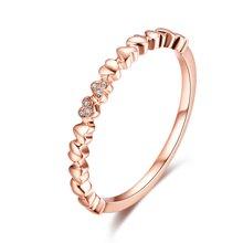 佐卡伊心形女戒钻戒正品玫瑰18k金钻石戒指-心恋青春印记系列珠宝