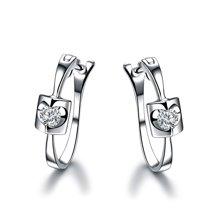 佐卡伊珠宝【天籁】白18k金钻石耳钉耳环结婚钻石耳饰 送女友礼物