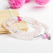 石玥珠宝 粉晶葫芦手链 SY01035