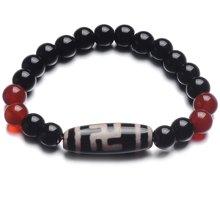 Lux-women 玛瑙天珠手链 卍字