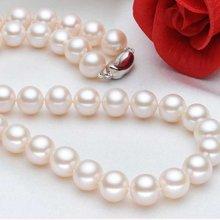 雅丹妮珠宝天然淡水珍珠项链圆形珍珠链9-10MM