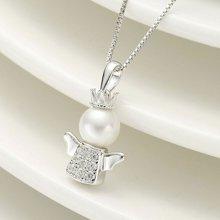 DODOBEL WOMAN 纯银天使镶嵌珍珠吊坠