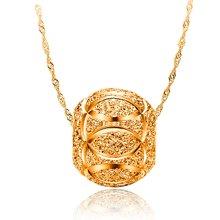 armasa 阿玛莎 s925纯银镀金转运珠项坠女短款时尚水波链锁骨项链 1珠s999022