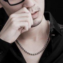 衡润 光珠项链 韩版 时尚银饰 男士项链 约11-13克