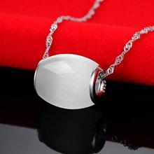 衡润 925银猫眼石项链 吊坠 时尚银饰品HR13N2222