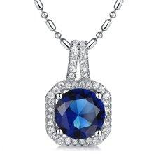 Lux-women-925银镶嵌吊坠-高贵璀璨(蓝)(赠项链)