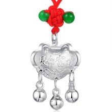 Lux-women-925银吊坠-宝宝长命富贵锁(赠编绳)