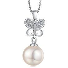 Lux-women-925银镶锆石贝珠吊坠-恋人LW12030802646(赠项链)