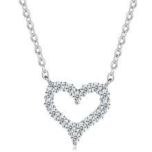 Lux-women-925银镶嵌吊坠-爱心花园