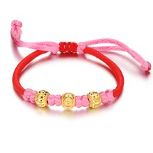 Lux-women-925银镀金手链-转运金珠
