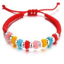 Lux-women-925银手链-转运旺福珠-蓝,黄,红,粉色