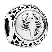 PANDORA 潘多拉 925银银色天蝎星座串珠791943(1)