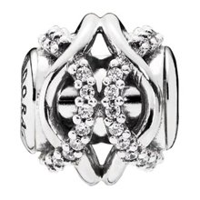 PANDORA 潘多拉 925银ESSENCE系列银色-关怀银色串珠796072CZ(1)