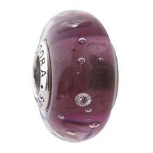 PANDORA 潘多拉 紫色气泡琉璃925银琉璃串饰791616CZ(1)