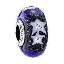 PANDORA 潘多拉 琉璃夜空繁星穆拉诺透明色串珠791662CZ(1)