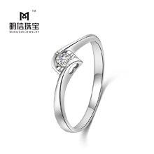 S925银天使之吻锆石戒指