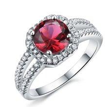 Lux-women-925银镶嵌女戒-高贵璀璨(红)