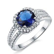 Lux-women-925银镶嵌女戒-高贵璀璨(蓝)