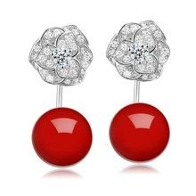 Lux-women-925银镶嵌贝珠耳坠-富贵荣华(耳坠)