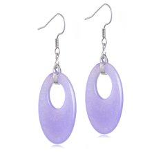 lux-women 925银石英岩玉耳坠-粉紫丽人