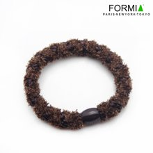 Formia芳美亚发饰 粗线缠绕绒线发圈发绳 HF6600302  咖色