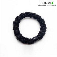 Formia芳美亚发饰 粗线缠绕绒线发圈发绳 HF6600302  黑色