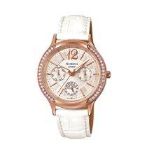 官方授权casio SHE-3030卡西欧女士石英腕表真皮表带钢带女士手表