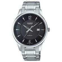 正品卡西欧casio手表男士石英腕表商务表钢带防水日历 LIN-205D