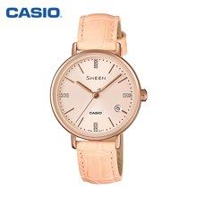 新品卡西欧手表女缤纷果色石英女表休闲皮带女士腕表正品SHE-4048