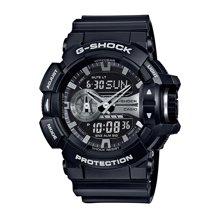 CASIO卡西欧 男表200米防水世界时钟闹钟倒计时时尚腕表GA-400GB