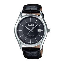 CASIO卡西欧经典商务男士手表 简约时尚皮带钢带表石英表MTH-1052