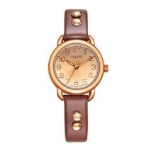 聚利时正品时尚圆形复古铆钉表带石英防水学生女表女士手表JA-933