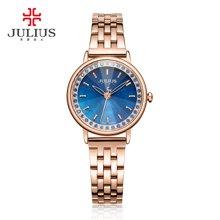 聚利时新品简约时尚镶钻皮带手表防水链带石英时装手表女JA-959