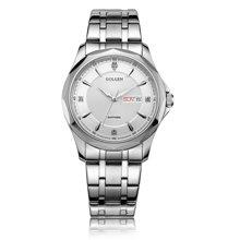 古尊(GOLGEN)手表 商务系列石英男表白色GN.19005M.PS
