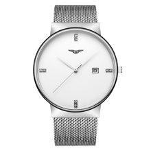 冠琴 正品男士手表超薄精钢防水石英表商务休闲简约时尚潮流腕表GS19054