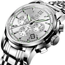 正品宾卡达男士手表大表盘机械表全自动时尚镂空防水夜光腕表男表7062