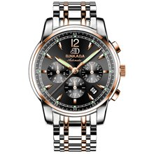 正品宾卡达男士手表大表盘机械表全自动时尚镂空防水夜光腕表男表8007S