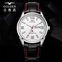 古尊(GOLGEN)手表 时尚系列石英男表白色GN.19009M.PS