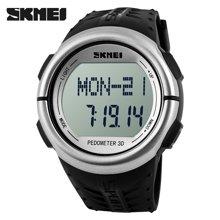 潮运动计步器手环走路跑步记步腕表心率电子表多功能防水心跳手表1058