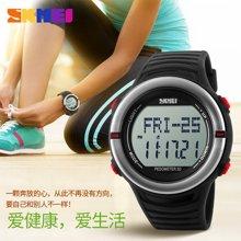 时刻美男士表户外运动跑步记步腕表心率电子表多功能防水心跳手表1111